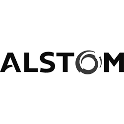 Alstom black and white logo