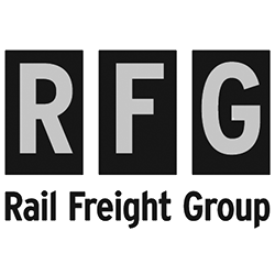 Rail Freight Group black and white logo