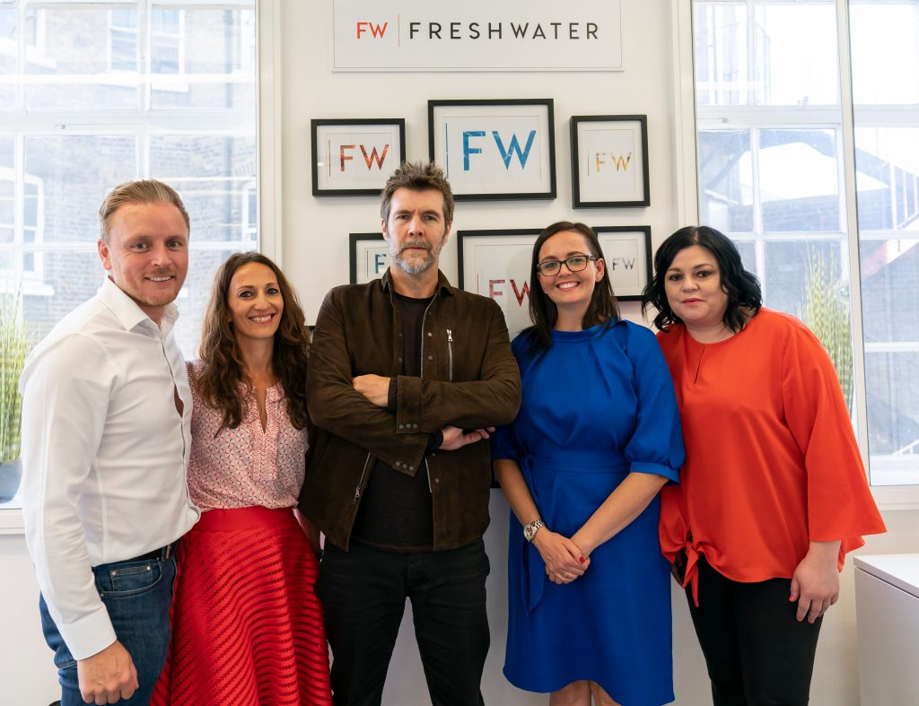 Freshwater team with Rhod Gilbert for HIMfertility