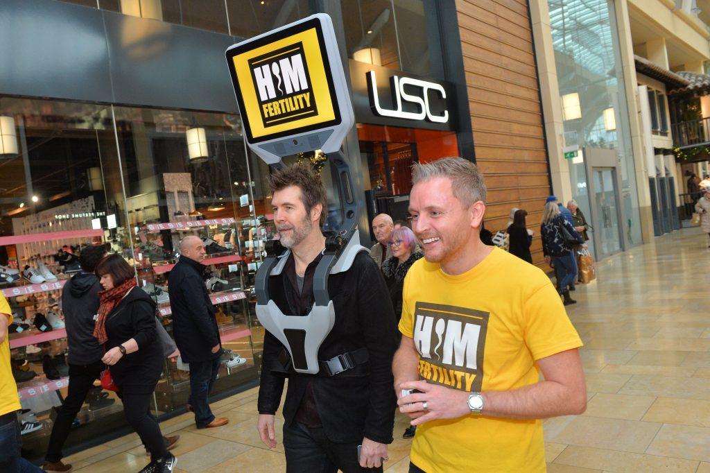 Simon and Rhod Gilbert in St Davids Cardiff